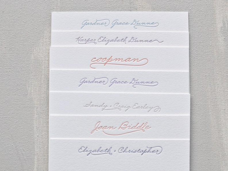 custom letterpress personal stationery // set of 40 image 1