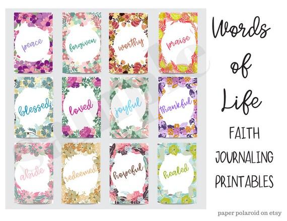 Faith Digital Collage sheet Phrases and Words Faith sayings Bible