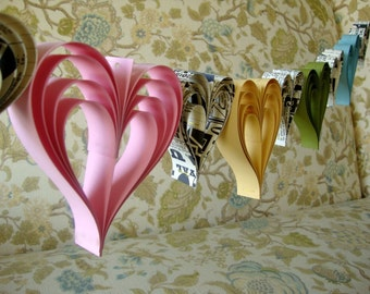Spring Fling Heart paperie  a garland of hand cut hearts
