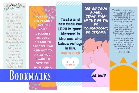 The Lord S Prayer Bookmark Sunday School Book Marks Etsy
