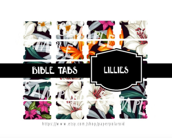 image relating to Printable Bible Tabs identified as Vibrant lillies of the valley electronic Bible tabs, bible