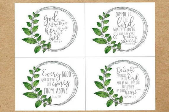 8 Biblical Christmas Quotes And Scriptures: 8 Christmas Scripture Memory Cards. Bible Study Scripture