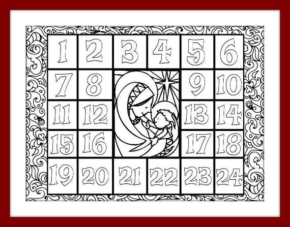 Christmas Coloring Advent Calendar Printable Pdf Download Xmas Rhcatchmyparty: Christmas Coloring Pages By Number Pdf At Baymontmadison.com