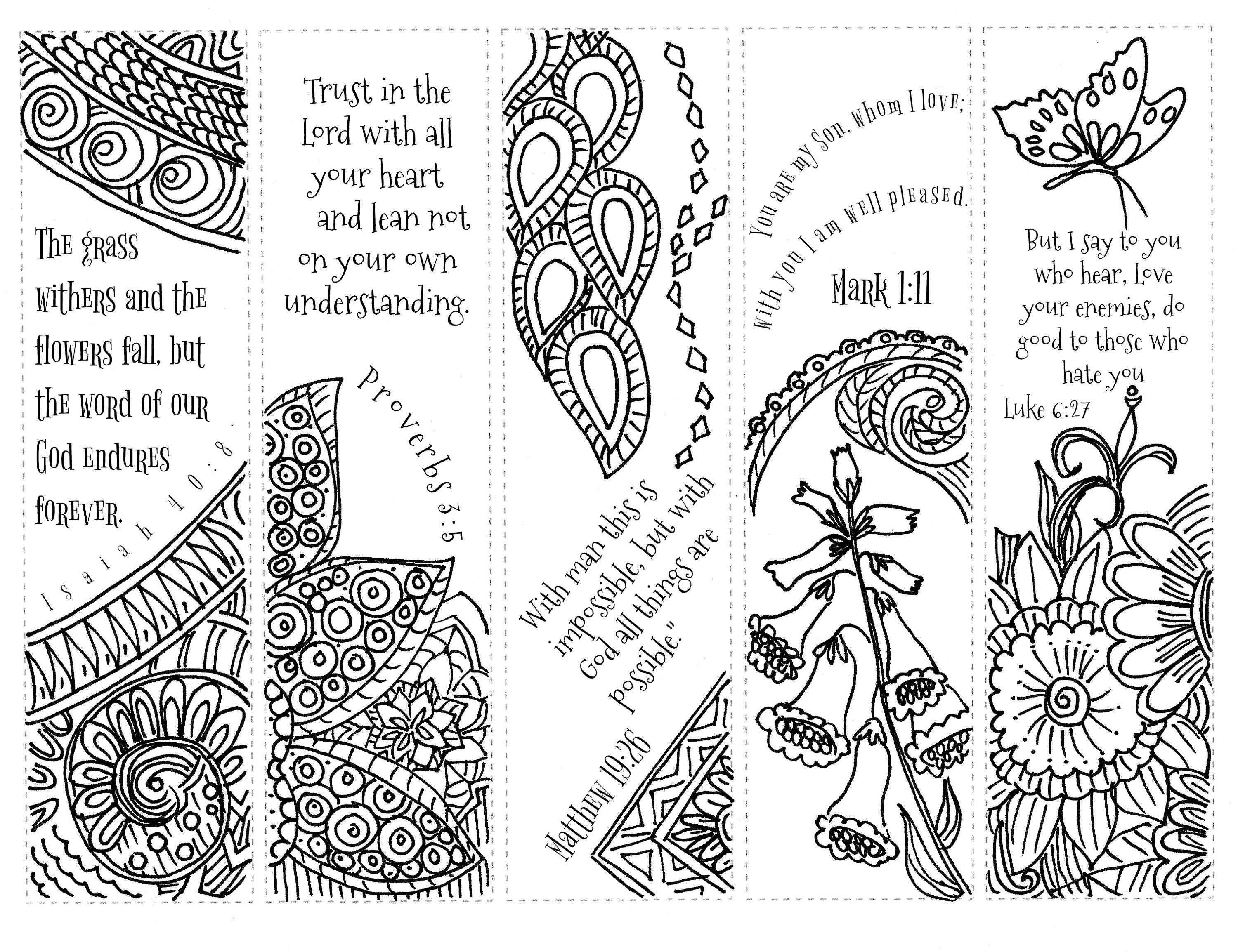 Bible Journaling Printable Margin Strips Coloring