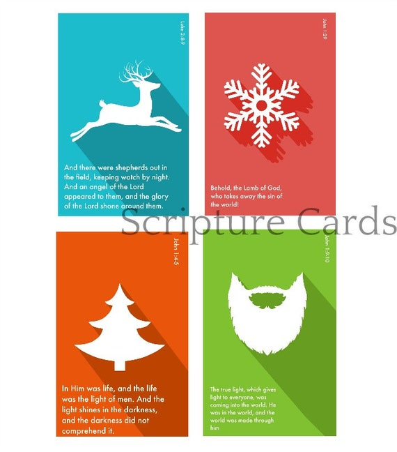 graphic about Printable Memory Cards called Xmas Scripture memory playing cards. Bible analyze Scripture