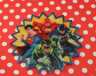 Justice League Cupcake Toppers Justice League Cake Toppers 24 Picks Craft Boutique