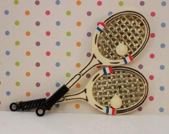 Vintage Inspired Tennis Racket Cake Topper