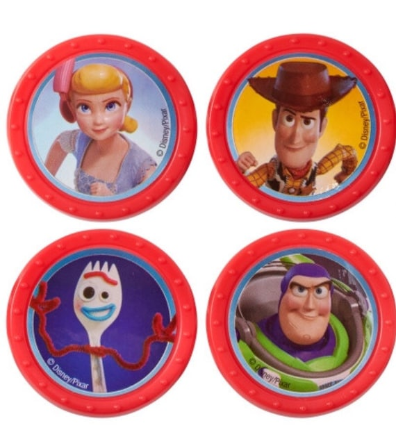 12 Disney//Pixar Toy Story 4 Cup Cake Rings Topper Birthday Party Bag Favor