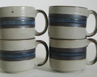 Vintage Otagiri Horizon Cup and Saucer Set, Japanese Stoneware, Horizon Mug and Plate Set, vintage pottery, coffee and tea, hygge
