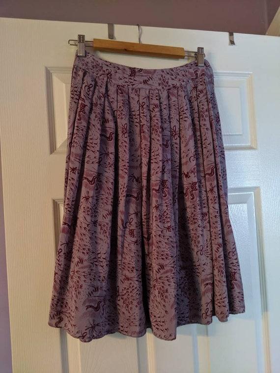 Anna Sui Purple Skirt
