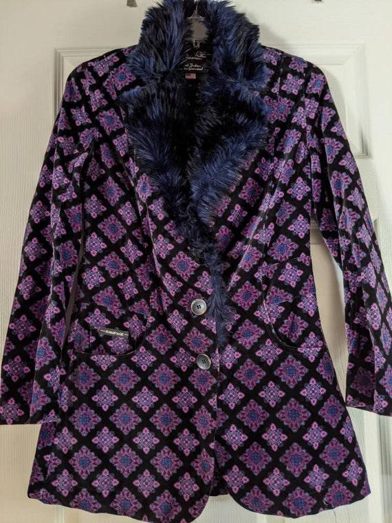 Rampage Velvet Patterned Jacket