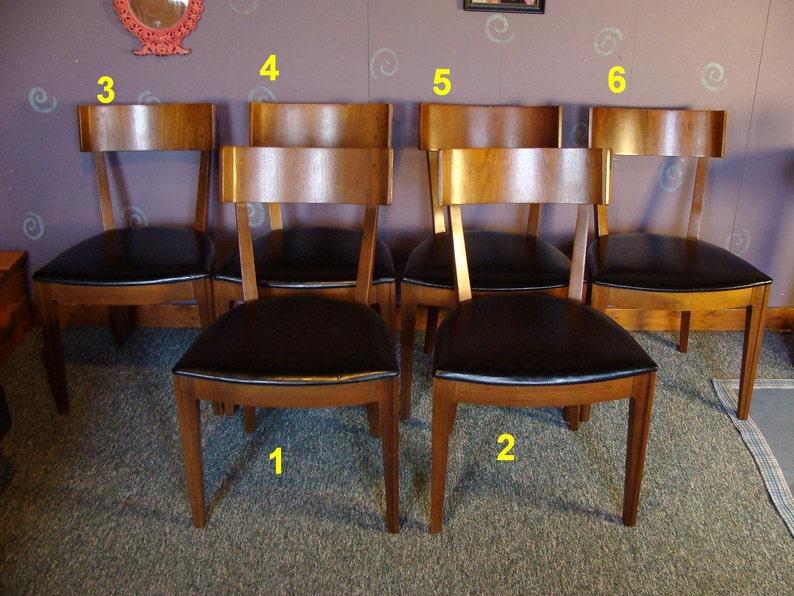 Peachy Vintage 60S 1962 Drexel Mid Century Modern Dining Room Side Chairs Brown Walnut W Veneer Backs N Black Vinyl Seats Free Us Shipping Dailytribune Chair Design For Home Dailytribuneorg