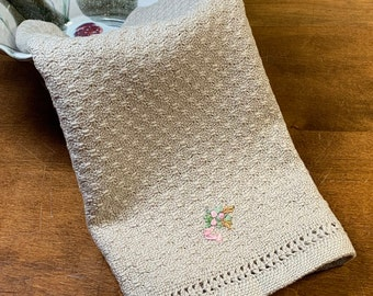 E1348 Handwoven Table Runner  - Swedish Lace with Leno Edging