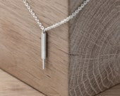 Edgy silver line necklace | Vertical bar necklace | modern necklace | minimalistic necklace | dainty necklace