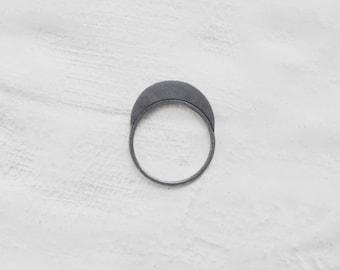 Moon silver ring . geometric ring