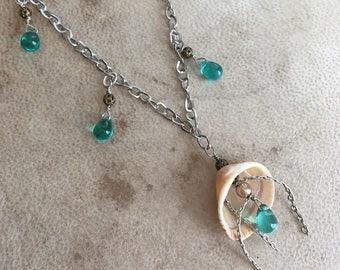 Mermaid Shell Necklace Ocean Treasure Summer Beach Jewelry