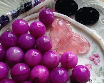 Destash Colorful Stone Beads Mixed Bead Lot Pendants Supplies DIY Collection