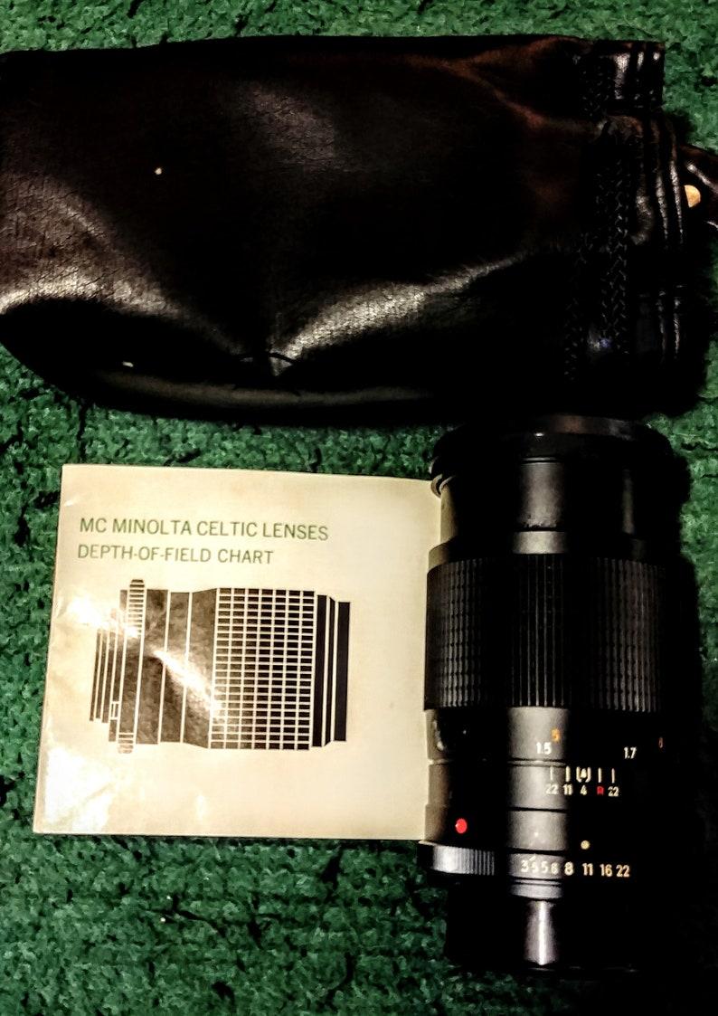 Camera Kit Minolta SRT 200 Vintage 1975 Flash 50mm and 135mm Lens ...
