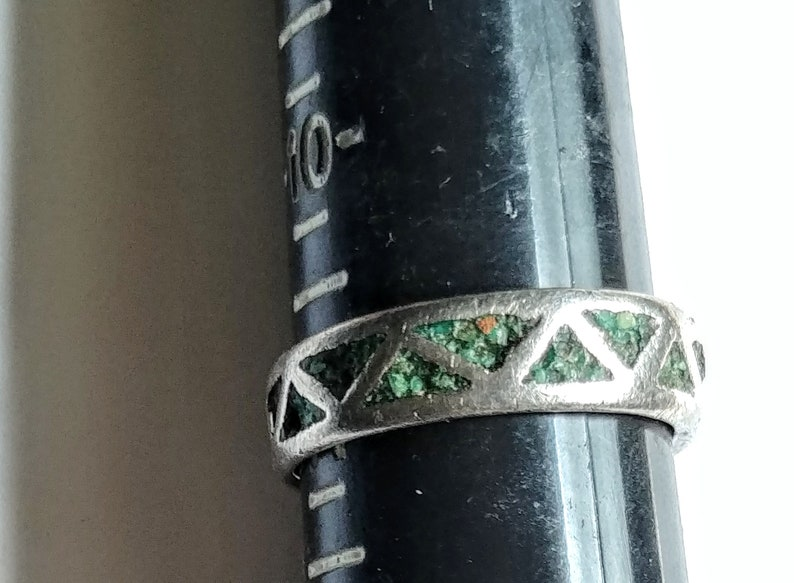 Ring El Anille Sterling Silver Turquoise Chips Vintage Jewelry Vendimia Joyeria Needs Repair SOLD AS IS