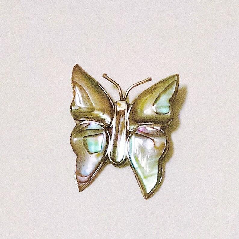 0db4951dfa845 Butterfly Pin Brooch Broche Abalone Mexican Silver Vintage Jewelry Vendimia  Joyeria Accessories