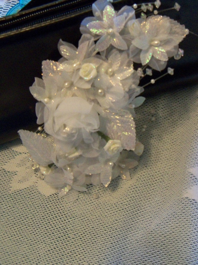 Handmade Hair Accessory White Flowers Wedding Bride Bridal Second Wedding Copricapo Sposa Gift Guide Women