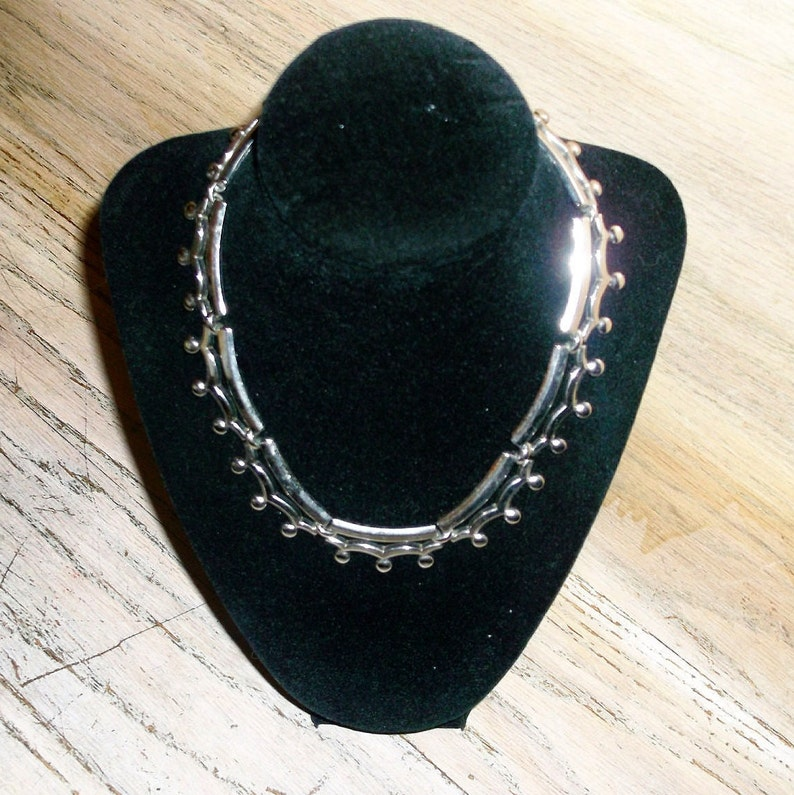 Necklace Collar by Monet Steampunk Techie Industrial Choker image 0