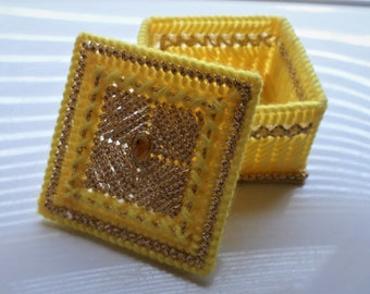 Yellow Trinket Box