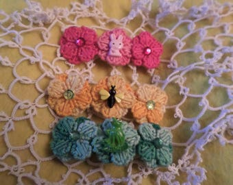 Spring And Summer Flower Barrette Bee Frog Bunny