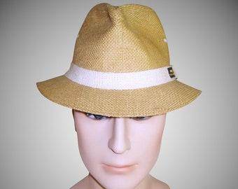 Vintage Men s Hat . Original Panama Jack Hat . 1960s . 60s men s hat . Fedora  Hat 9da9be887911