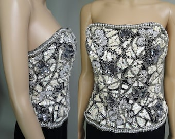529ff82e3c Pearl beaded bustier