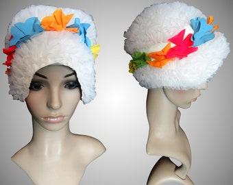 Vintage Swimming Cap | Swim Cap | Bathing Cap | Vintage Swim Cap | Floral Swim Cap |  White Swim Cap | Flower Swim Cap