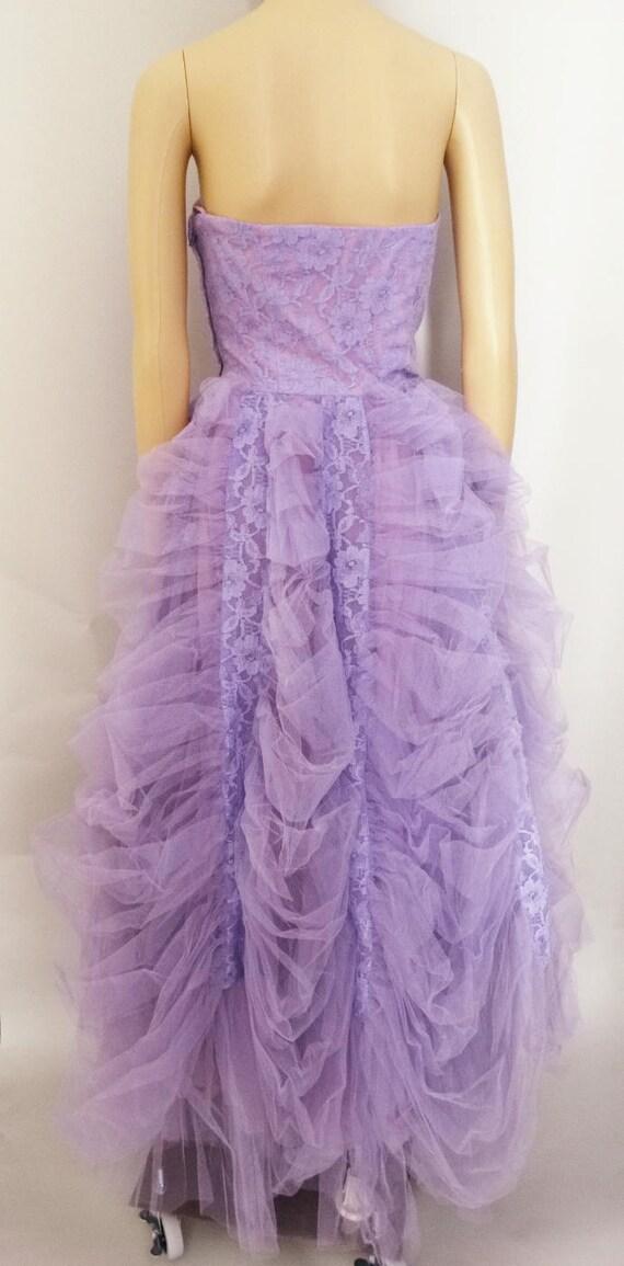 Vintage 1940s Formal Gown | Lavender | Strapless … - image 6
