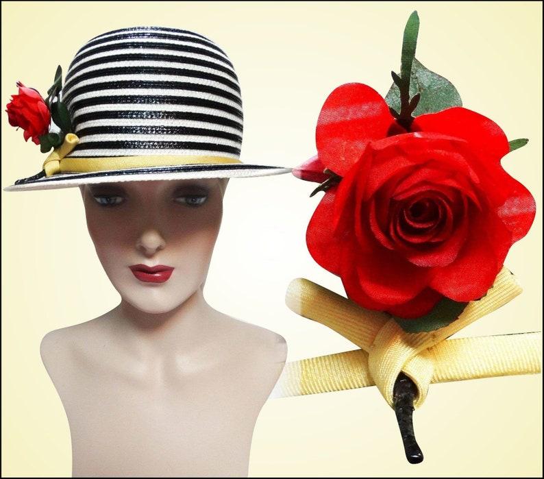 d382d4d7112dde Vintage 1950s Hat 50s Hat Frank Oliver Hat Red Rose Fun   Etsy