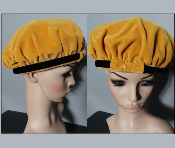 Vintage 1950s Hat | 50s Hat | Gold Hat | Designer