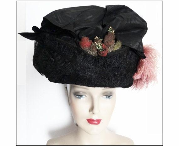 1900s Edwardian Hat//Authentic Antique Hat / 1900… - image 4