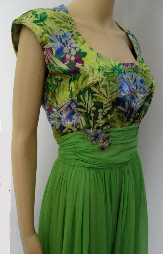 Vintage 1950s Dress   Peggy Hunt   Chiffon   Broc… - image 8