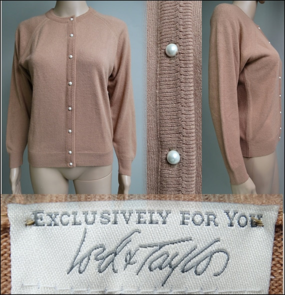 Vintage 1950's Sweater// Lord & Taylor//50s Cardig