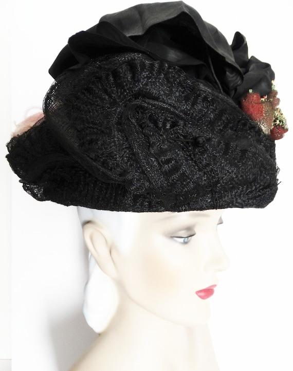 1900s Edwardian Hat//Authentic Antique Hat / 1900… - image 3