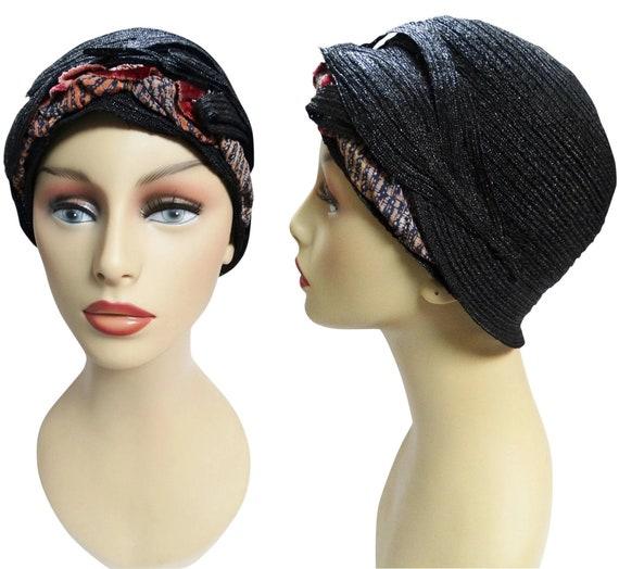 RARE 1920s Cloche Hat | Black | Designer Cloche |