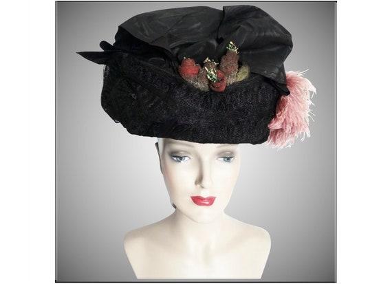 1900s Edwardian Hat//Authentic Antique Hat / 1900… - image 8