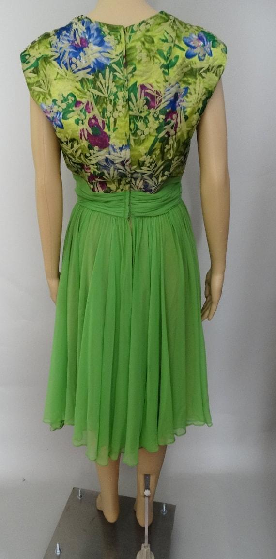Vintage 1950s Dress   Peggy Hunt   Chiffon   Broc… - image 5