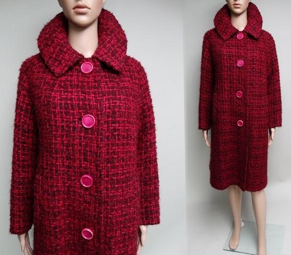 Vintage 1950s Coat//50s Coat//Kronenfeld Furs//Rem