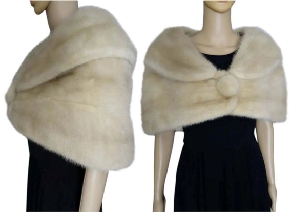 Beautiful Mink Fur Stole  /  Wrap  /  Cape  /  Rea