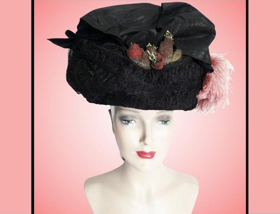 1900s Edwardian Hat//Authentic Antique Hat / 1900… - image 5