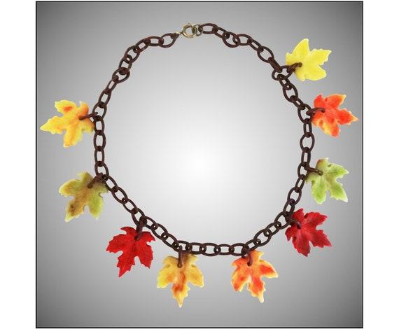 Vintage Lucite Necklace | Fall Lucite Necklace | L