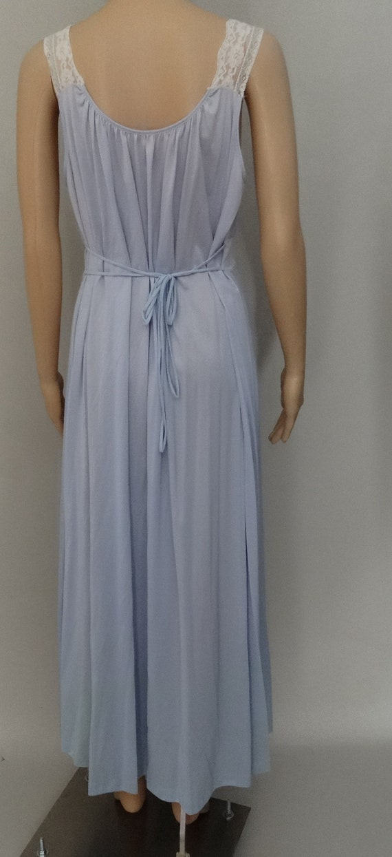 Vintage 1960s Peignoir Set | Burlesque Set | Blue… - image 3