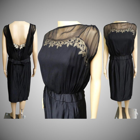 Vintage 1950s Dress | Designer Dress | Natlynn  |