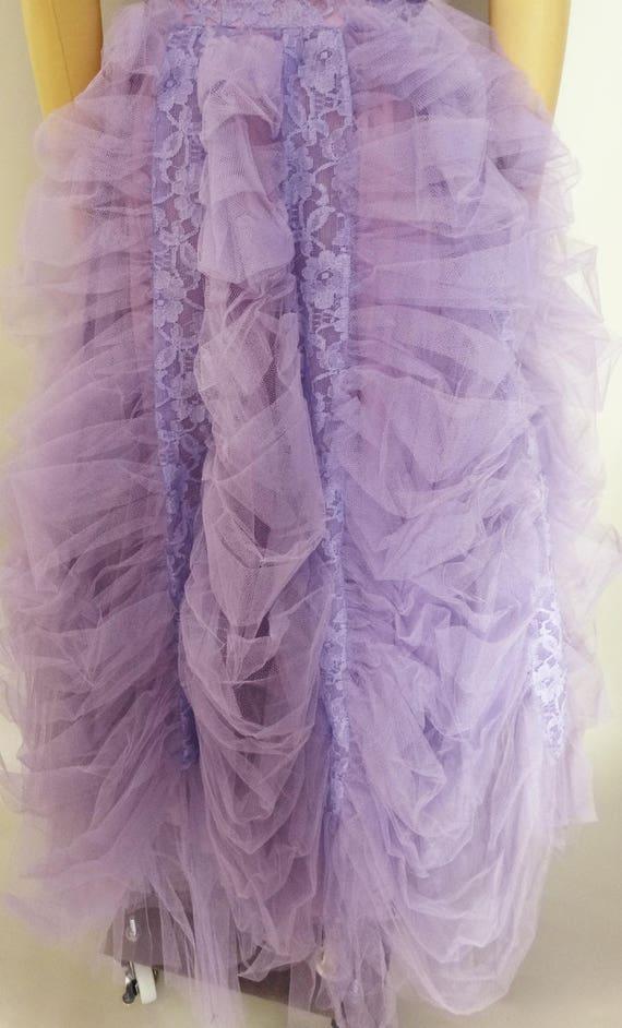 Vintage 1940s Formal Gown | Lavender | Strapless … - image 4