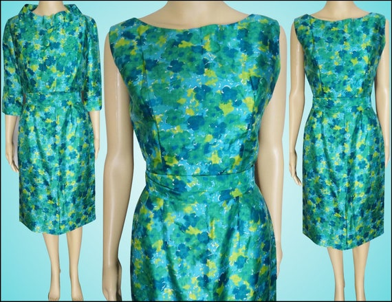 INCREDIBLE 1950s Dress // Novelty Print // Matchin