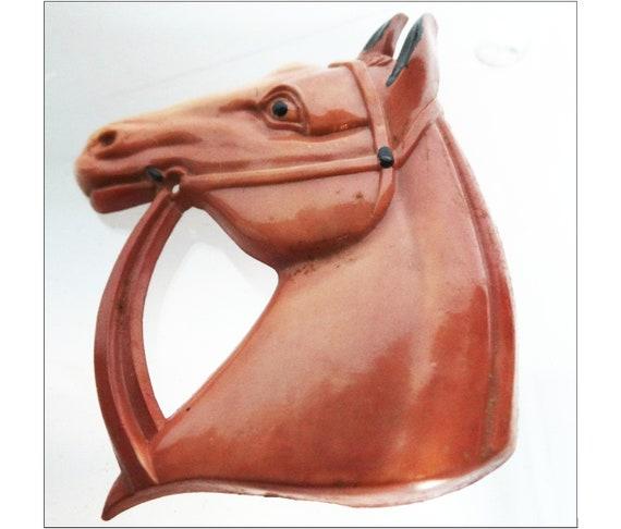 Vintage 1930s Horse Head Brooch